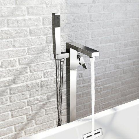 Canim II Freestanding Bath Mixer Tap with Hand Held Shower Head