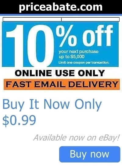 Coupons: One (1X) Lowes 10% Off-Coupons~ Online Only Promotional Discount Code Fast Ship BUY IT NOW ONLY: $0.99 #priceabateCoupons OR #priceabate