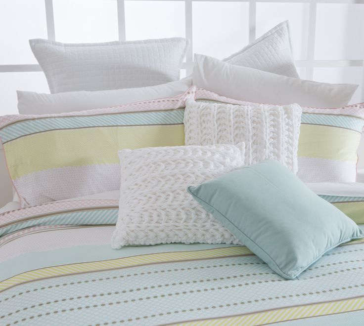 Soft sorbet pastels make the Habitat Marlo Quilt Cover Set a perfect choice for Autumn.
