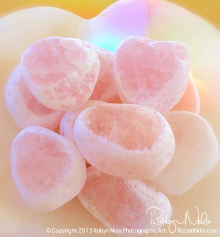 Rose Quartz Windows. One can never have too much Rose Quartz. It is the energy of love. ♥