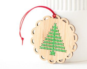 DIY Kit // Cross Stitch Ornament // by RedGateStitchery on Etsy