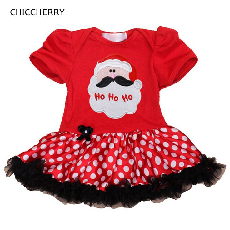 Santa Claus Baby Girls Red Christmas Dress Polka Dot Tutu Baby Jurkjes Vestido Infantil Christmas Costumes for Kids Clothes
