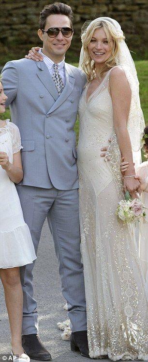 Kate Moss, wedding dress ... Rock n' Roll Gatsby...I'll take the Gatsby part.