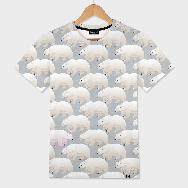 «Pink Bear (dare to be different)», Limited Edition Men's All Over T-Shirt by Angelo Cerantola - From 46€ - Curioos
