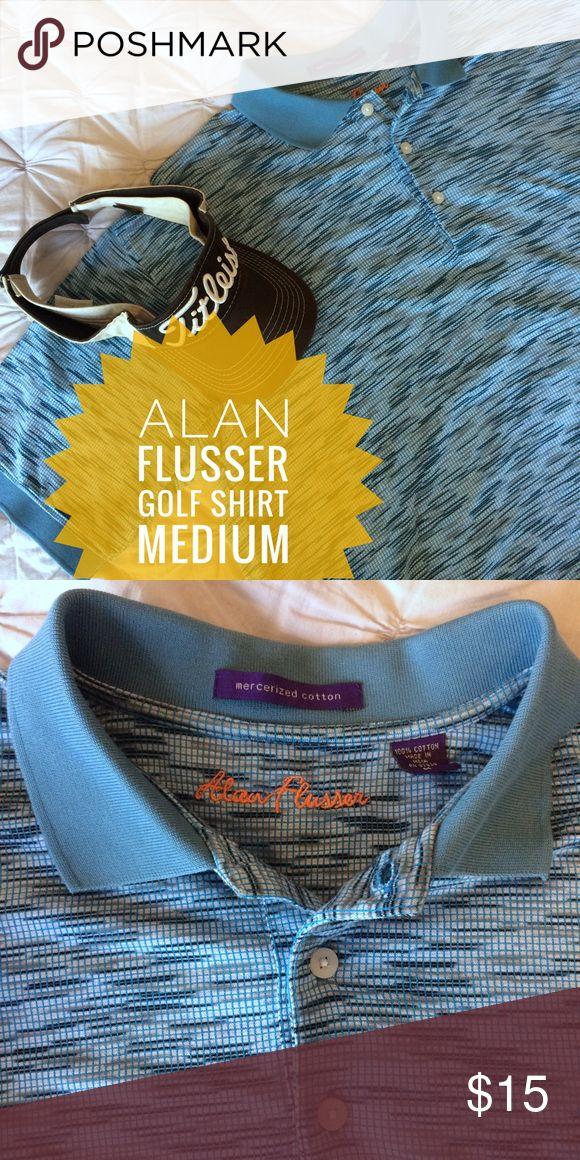 Men's Alan Flusser golf shirt - M Men's Alan Flusser golf shirt size Medium Alan Flusser Shirts Polos