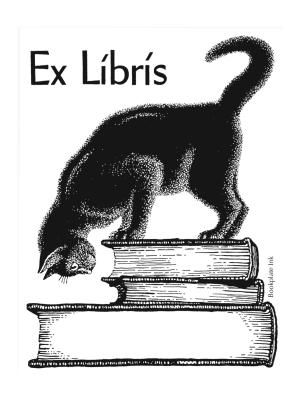 One of our most popular designs, this delightful cat atop a stack of books was originally a private design by LaDonna Ruth Brooks. Once the Antioch Company introduced it in the 1960s, its popularity soared. It is one of Bookplate Ink's most popular designs.