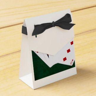 Manos de póker - rasantes - juego de los diamantes caja para regalo de boda