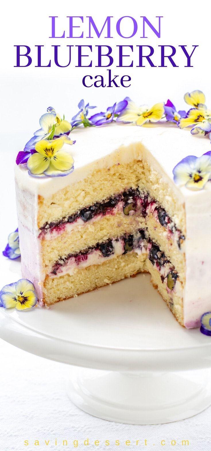 Lemon Blueberry Cake Recipe In 2020 Blueberry Lemon Cake Moist Lemon Cake Blueberry Cake