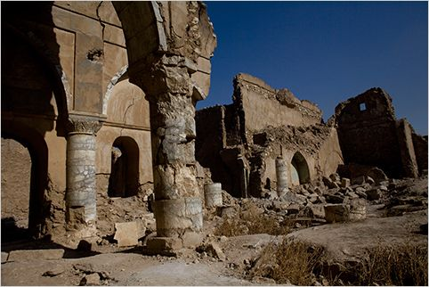 A ruined Chaldean church, on Kirkuk's Citadel