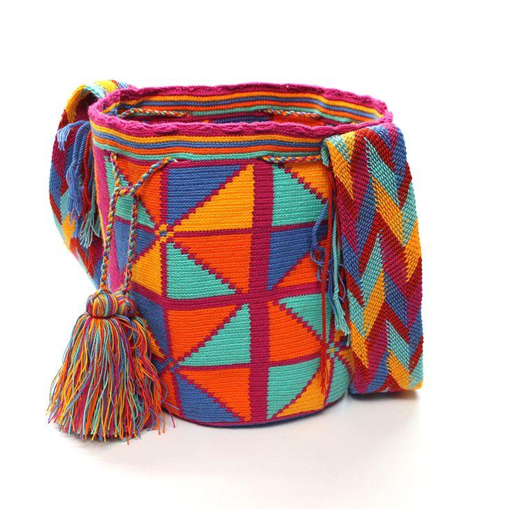 Triangles Wayuu mochila bag