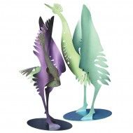 Crane Sculptures // Garden Art // Vega Metals Gallery, Vega Metals, Inc