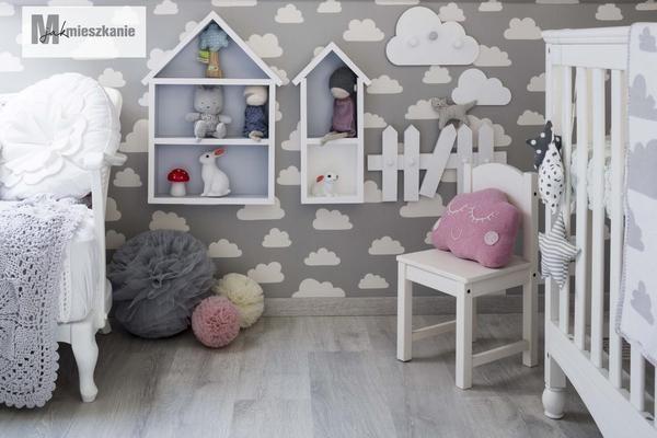 Cloud wallpaper in the nursery / M jak mieszkanie