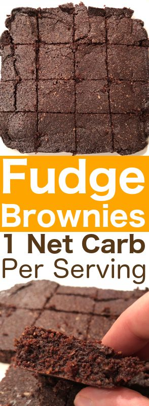 This low carb keto brownie recipe makes chocolaty, rich, fudgy & moist brownies, & has only 1 net carb per brownie! Perfect for dark chocolate lovers!