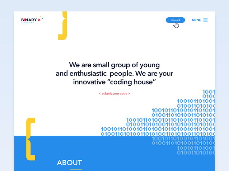 "Binary X // Web for ""coding house"" /"