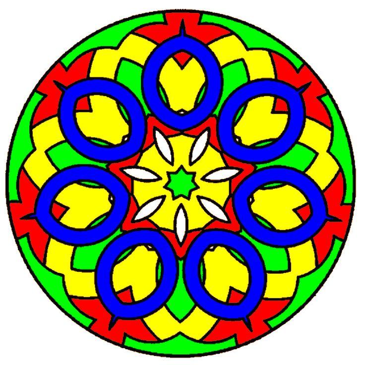 """Mandala Coloring - Med denne app kan du farveklægge såkaldte """"mandalaer"""" hvilket er en symmetrisk figur ofte som cirkel eller kvadrat, mange med blomster-, kors- eller hjulform."""