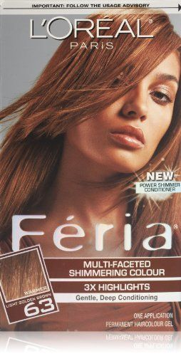 L Oreal Paris Feria 63 Light Golden Brown Sparkling