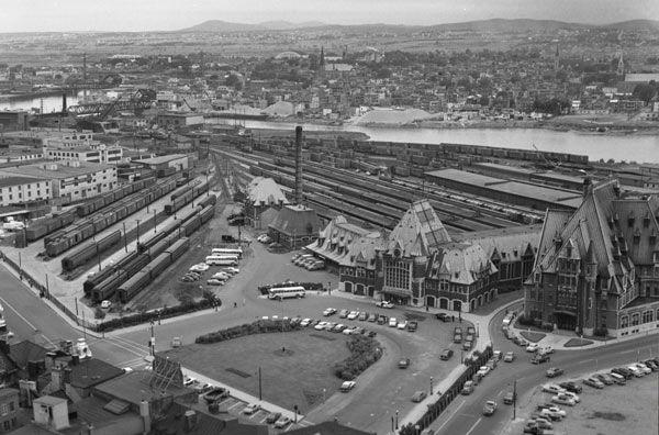 Gare du palais en 1956