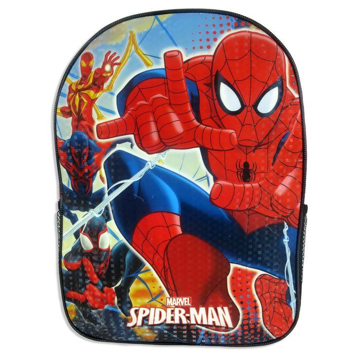 Spiderman 15 Kids' Backpack - Red/Black