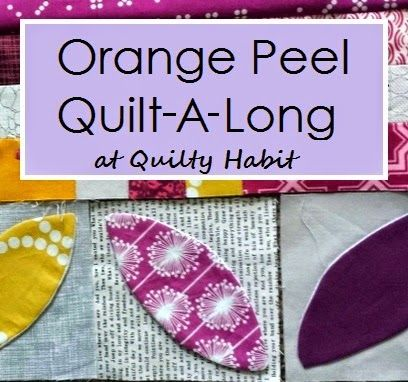 "Orange Peel QAL: ""Stitch and Flip"" or Interfacing method - efficient applique method for curves"