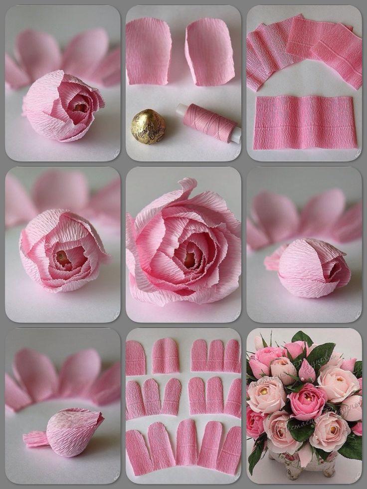 17 parasta kuvaa paperinaru pinterestiss instagram - Como se hacen rosas de papel ...