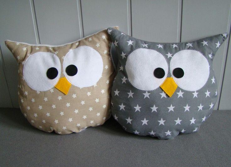 OWL+almohada+cuddly+decorativo+de+Ifffka+por+DaWanda.com