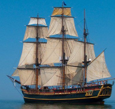 "Gorgeous tall ship…HMS Bounty. Built for the 1962 motion picture, ""Mutiny on the Bounty""; sunk in Super Storm Sandy, October 2012. RIP."