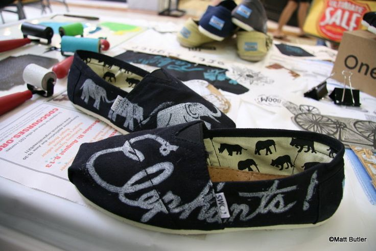 Buy one pair of Toms shoes, and Toms will give a pair of new shoes to a child in need!