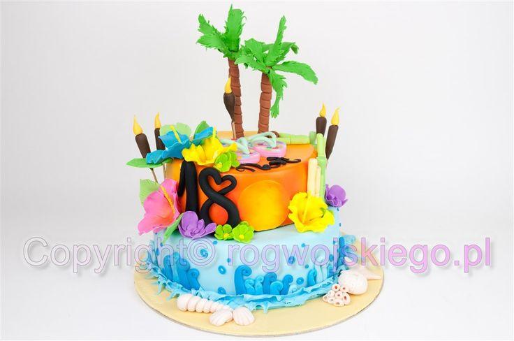 tort hawaje, hawajski tort, tort w stylu hawajskim, gdańsk, torty dla dzieci, torty na 18  http://rogwojskiego.pl