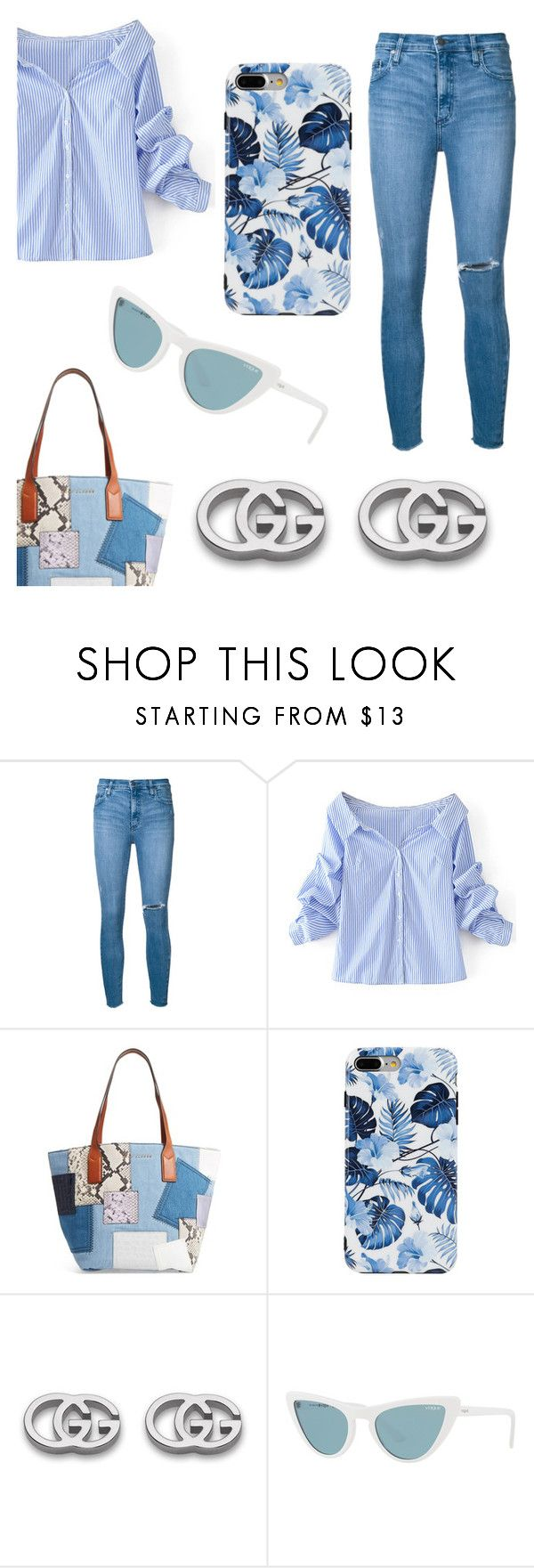 """""""Untitled #137"""" by zineb-chibane on Polyvore featuring Nobody Denim, WithChic, Marc Jacobs, Gucci and Vogue"""