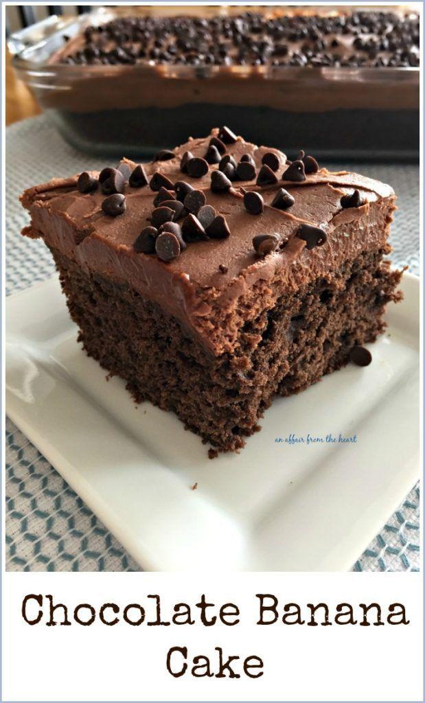 Chocolate Banana Cake Recipe Chocolate Banana Cake