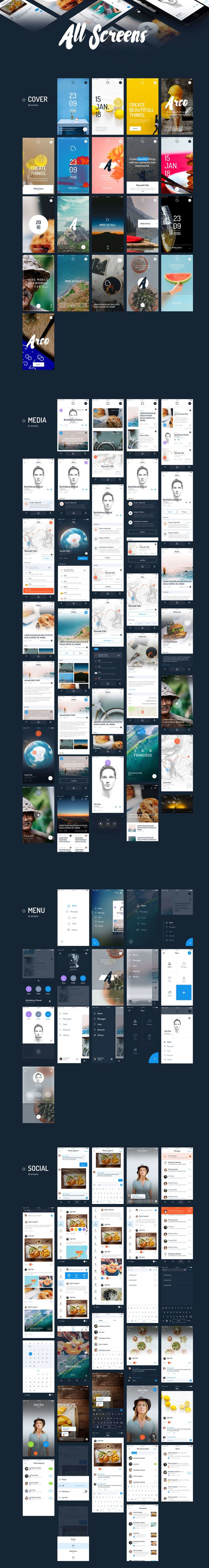 Create beautiful things with our awesome User Interface kit. It comes with 200 unique screens. Arco is a modern, clean and minimalistic UI Kit to upgrade your projects with over 800 elements to choose. Everything was made with a detail oriented style and followed by today's web trends. Layers are well-organized, carefully named and grouped.
