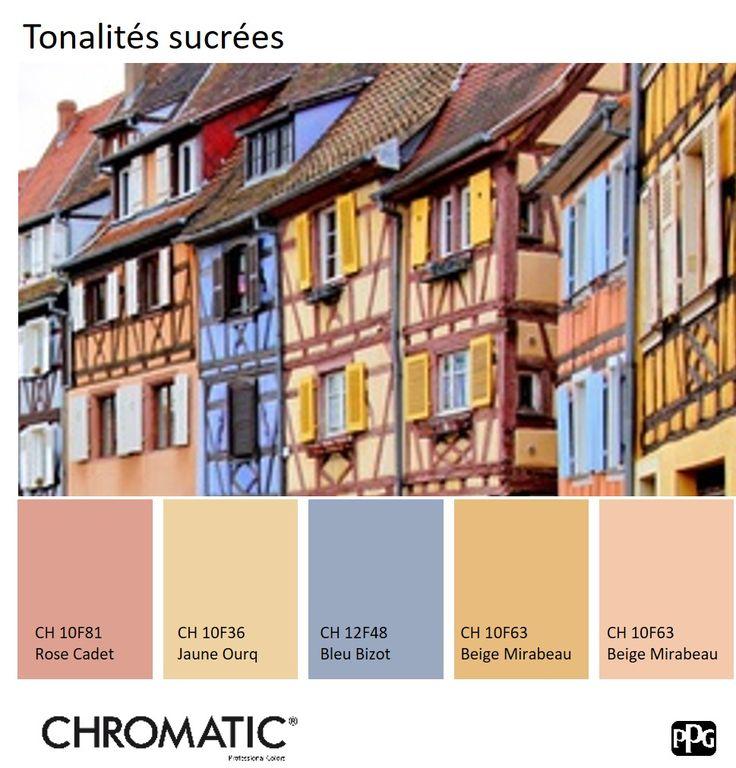 Les 34 meilleures images du tableau chromatic en facade for Nuancier couleur facade