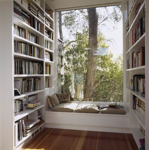 Book Nook - love the idea of a reading room/area.