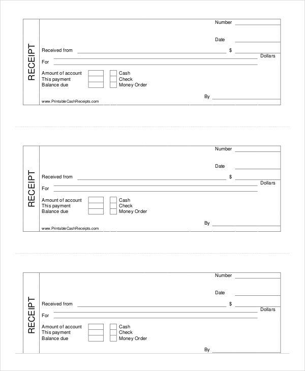 Printable Cash Receipt Template Cash Receipt Template To