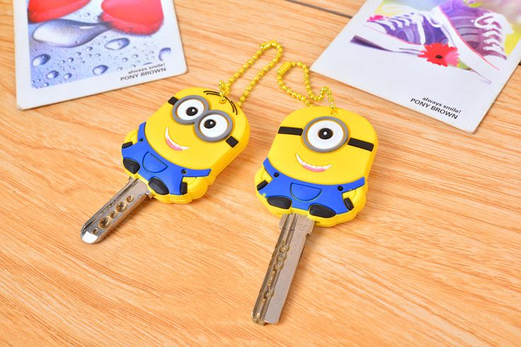 2pcs Despicable Me Minion Key Cover     Tag a friend who would love this!     FREE Shipping Worldwide     Buy one here---> https://gift-store.moonbeo.com/minion-key-cover/