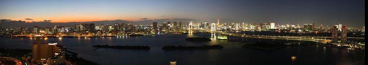 Fuji TV sphere observatory panorama 1 (auto scroll)フジテレビ球体展望台 パノラマ自動スクロール1