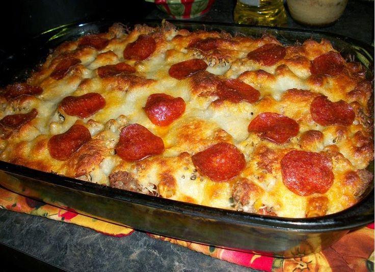 Best recipes in world: Pizza Spaghetti Casserole