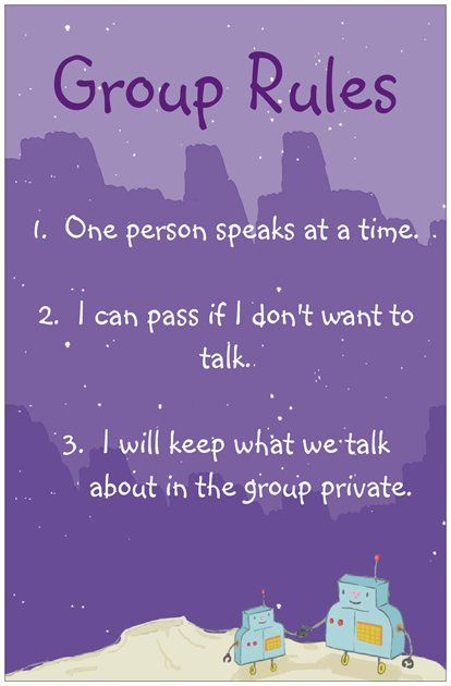 Group counseling rules