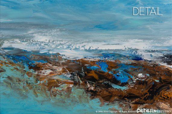Abstrait Art pariétal Paysagisme abstrait peinture par Catalin