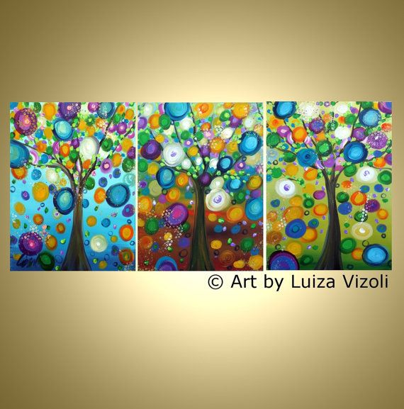 72 best images about triptych on pinterest acrylics for Cute abstract art