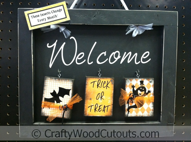108 best displays i make for crafty wood cutouts images on more october wood craft home decor projects sciox Images