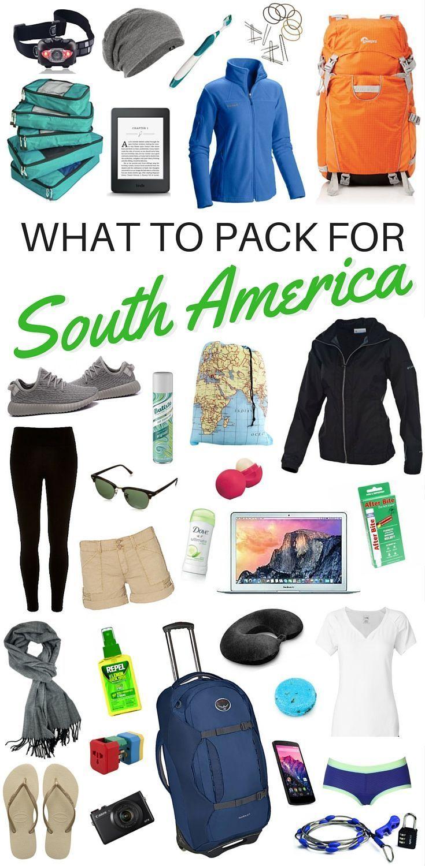 Uma lista de embalagem para a América do Sul: o que levar em uma longa viagem de mochila   – 旅行
