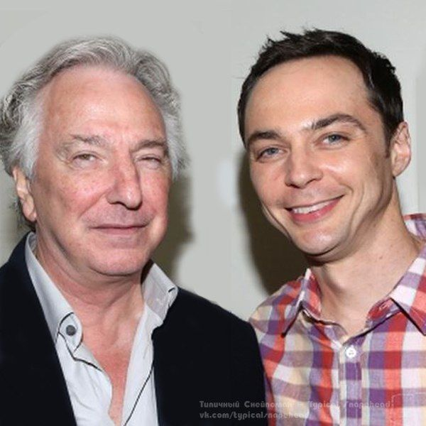 Alan Rickman and Jim Parsons - at a preview performance, October 3, 2014.