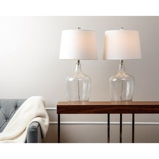 Abbyson Azure Clear Glass Table Lamp (Set of 2) - Free Shipping Today - Overstock.com - 16810827 - Mobile