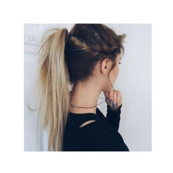 How To 5 Hairstyles for the Lazy Girl ❤ liked on Polyvore featuring beauty products, haircare, hair styling tools and hair