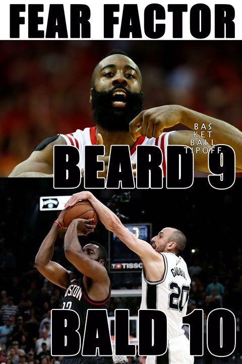 Fear the Beard nahhh Fear the BALD.  Game winning blocks are all the rage for NBA legends at the San Antonio Spurs. Manu Ginobili blocks James harden of the Houston Rockets.  -dubStepHD