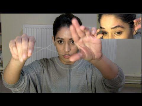Threading Eyebrows | How To Thread | Eyebrow Threading Tutorial