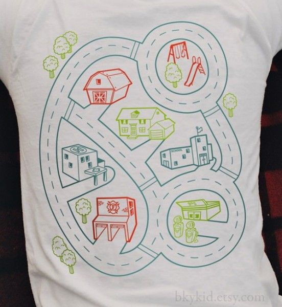 Relax, the Car Play Mat t-shirt will babysit while you snooze - http://babyology.com.au/fashion/relax-the-car-play-mat-t-shirt-will-babysit-while-you-snooze.html