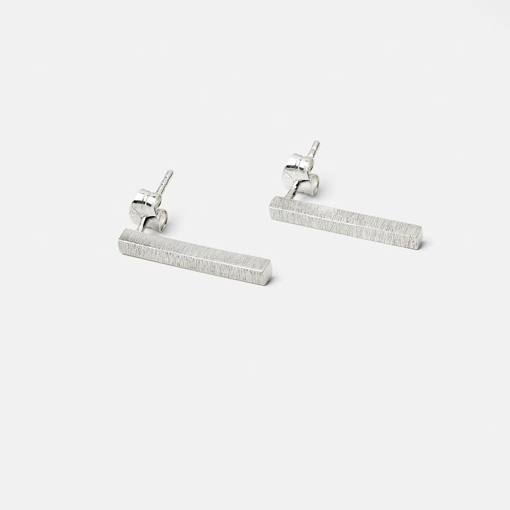 Silver Beam Earrings /SIGNED STUDIO