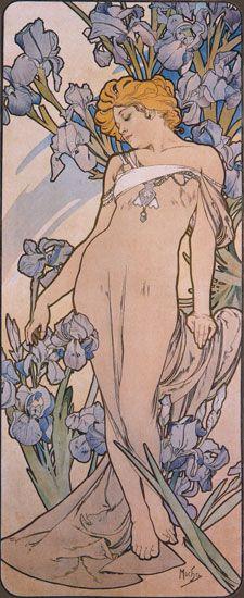 """""""Iris""""- Alphonse Mucha"""